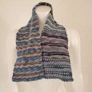 Vintage Hand Knitted Kids Winter Scarf